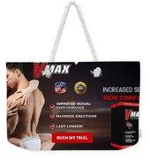 Vmax Male Enhancement Weekender Tote Bag