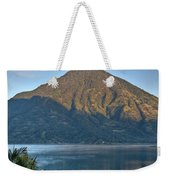 Volcano And Reflection Lake Atitlan Guatemala Weekender Tote Bag