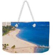 Waikiki Beach And Diamond Head Weekender Tote Bag