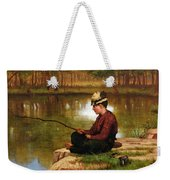 Waiting For A Bite, Central Park Weekender Tote Bag