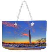 Washington Monument Sunset Weekender Tote Bag