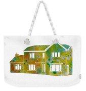 Watercolor House Weekender Tote Bag