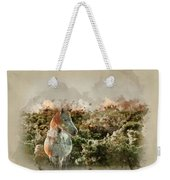 Watercolour Painting Of Beauttiful Close Up Of New Forest Pony H Weekender Tote Bag
