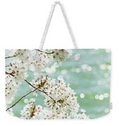 White Cherry Blossoms Trees Weekender Tote Bag