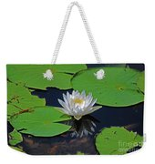 2- White Water Lily Weekender Tote Bag