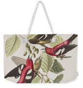 White-winged Crossbill Weekender Tote Bag