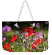 Wild Flowers And Red Poppies Weekender Tote Bag