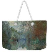 Willows At The Edge Of The Yerres Weekender Tote Bag