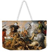 Wolf And Fox Hunt Weekender Tote Bag
