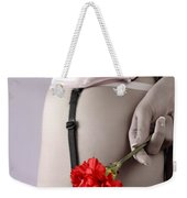 Woman With A Carnation Weekender Tote Bag