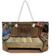 Wooden Bench Weekender Tote Bag