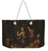Wreath With Value And Abundance Weekender Tote Bag