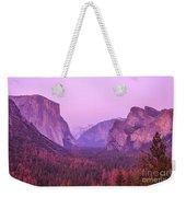 Yosemite Pink Sunset Weekender Tote Bag