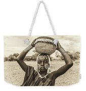 Young Boy From The African Tribe Mursi, Ethiopia Weekender Tote Bag