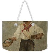 Young Fisherman In The Gulf With Capri At A Distance Weekender Tote Bag