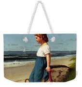 Young Girl At The Seashore Weekender Tote Bag