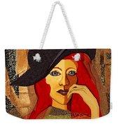 200 - Woman With Black Hat .... Weekender Tote Bag
