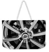 2005 Lotus Elise Wheel Emblem -0079bw Weekender Tote Bag