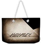 2006 Dodge Viper Srt 10 Emblem -0062s Weekender Tote Bag