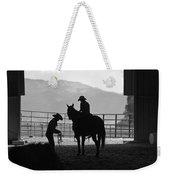 201208107-047k Cowgirls Preparing To Ride 2x3 Weekender Tote Bag