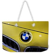 2015 Bmw M4 Hood Weekender Tote Bag by Aaron Berg