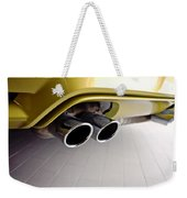 2015 Bmw M4 Exhaust Weekender Tote Bag by Aaron Berg