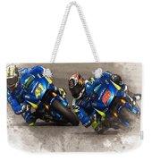 2015 Catalunya Top Motogp Saturday  Weekender Tote Bag