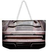 2015 Mclaren 650s Spider Rear Emblem -0011ac Weekender Tote Bag
