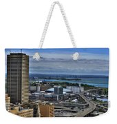 2015 View Of The Skyway And New Harbor  Weekender Tote Bag
