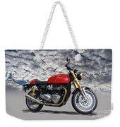 2016 Triumph Cafe Racer Motorcycle Weekender Tote Bag