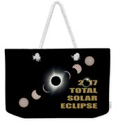 2017 Total Solar Eclipse Phases Weekender Tote Bag