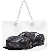 2017 Triple Black Corvette Weekender Tote Bag