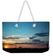 2017_09_midkiff Tx_rigs At Sunset 1 Weekender Tote Bag