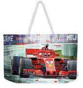 2018 Australian Gp Ferrari Sf71h Vettel Winner  Weekender Tote Bag