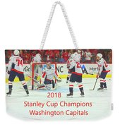 2018 Stanley Cup Champions Washington Capitals Weekender Tote Bag