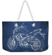 2018 Yamaha Mt07,blueprint,blue Background,fathers Day Gift, 2018 Weekender Tote Bag