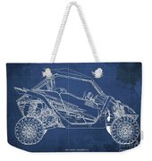 2018 Yamaha Wolverine X4 Blueprint Blue Background Gift For Dad Weekender Tote Bag
