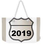 2019 Highway Sign Weekender Tote Bag