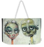 2040 Reality Hits The Millennials Weekender Tote Bag