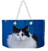 Cat On A Greek Island Weekender Tote Bag
