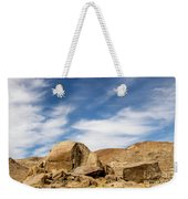 Rocks, Mountains And Sky At Alabama Hills, The Mobius Arch Loop  Weekender Tote Bag