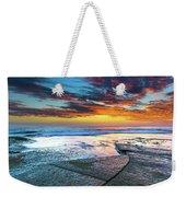 Sunrise Seascape And Rock Platform Weekender Tote Bag