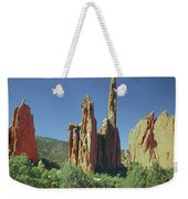 210806-h Spires In Garden Of The Gods Weekender Tote Bag