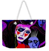 215   Mother And Child  Clowns A  Weekender Tote Bag