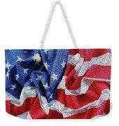 American Flag 40 Weekender Tote Bag