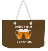 21st Birthday Gifts For Him Her Weekender Tote Bag