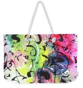 Abstract Calligraphy Weekender Tote Bag