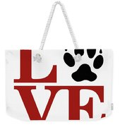 Love Claw Paw Sign Weekender Tote Bag