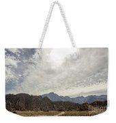 Rocks, Mountains And Sky At Alabama Hills, The Mobius Arch Loop  Weekender Tote Bag