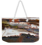 22. V2 Rustic Brown, Red And White Glaze Painting Weekender Tote Bag